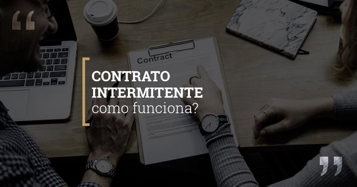 contrato intermitente como funciona